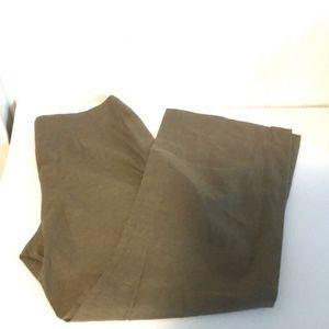 Tribeca Tan Womens Sz 8P Cropped Pants Linen Blend